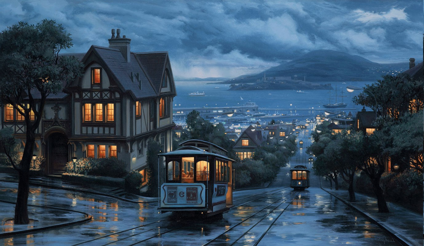 3840x1080 Hd Wallpapers Sad Quote Landscape City Coast Street San Francisco Rain