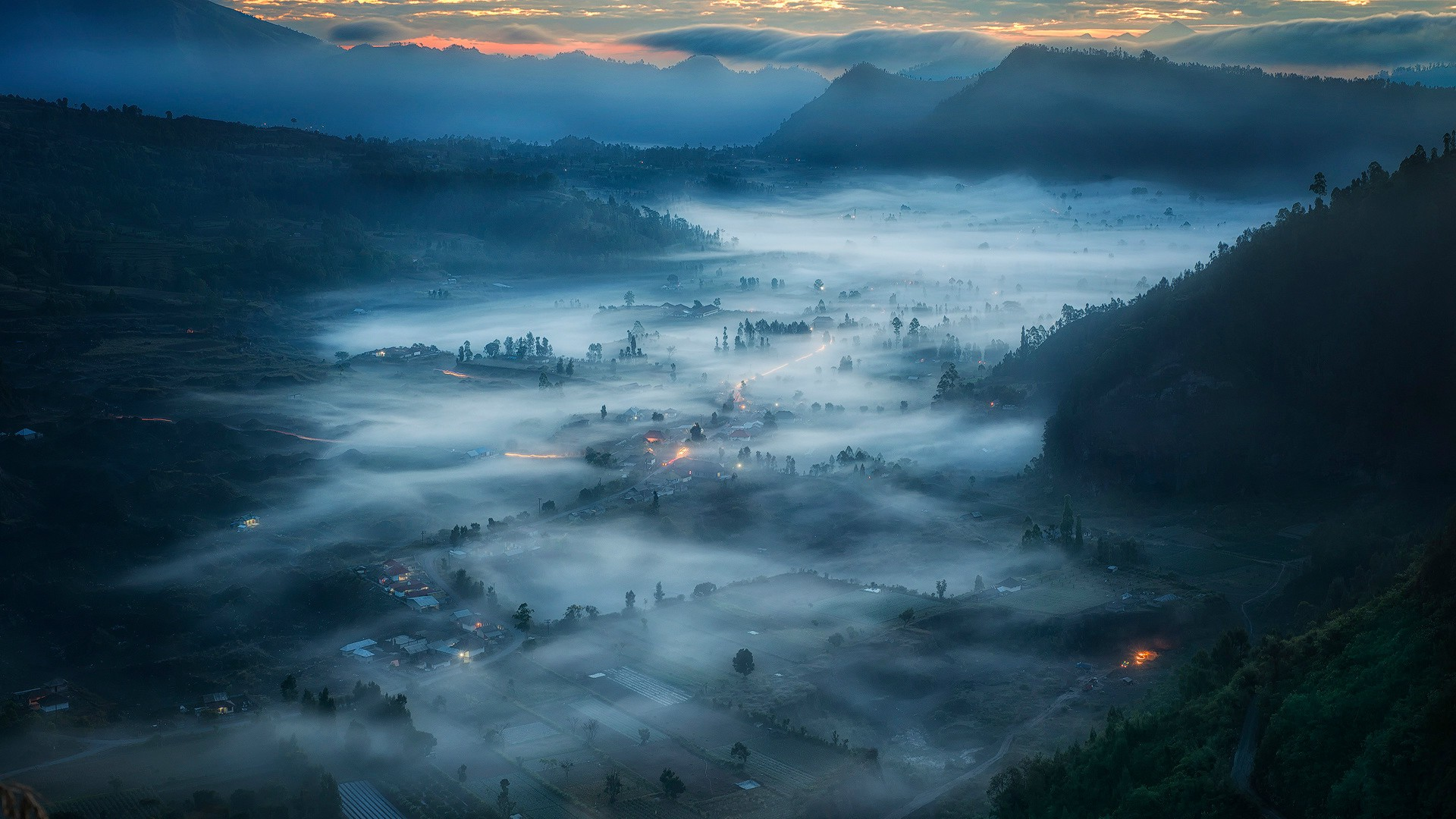 Animal House Wallpaper Nature Landscape Clouds Bird S Eye View Indonesia