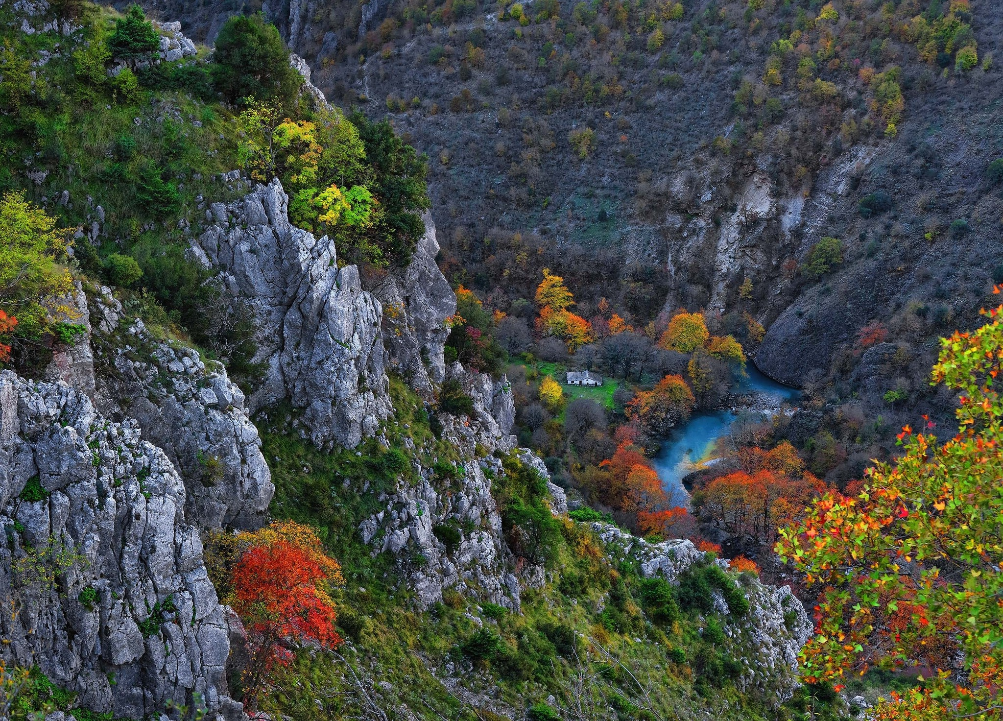 Fall Wallpaper Cars Gorge River Fall Mountain Canyon Cliff Trees Nature