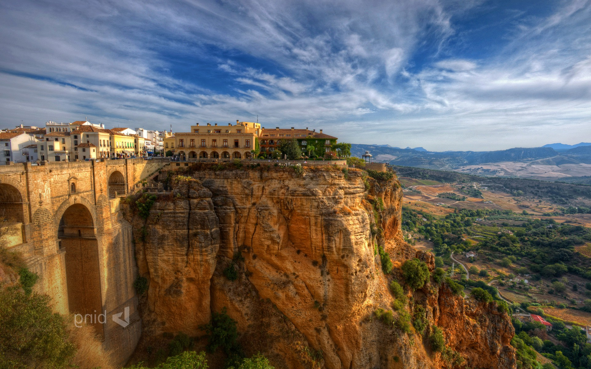 Anime Lock Screen Wallpaper City Old Building Spain Cliff Landscape Wallpapers Hd
