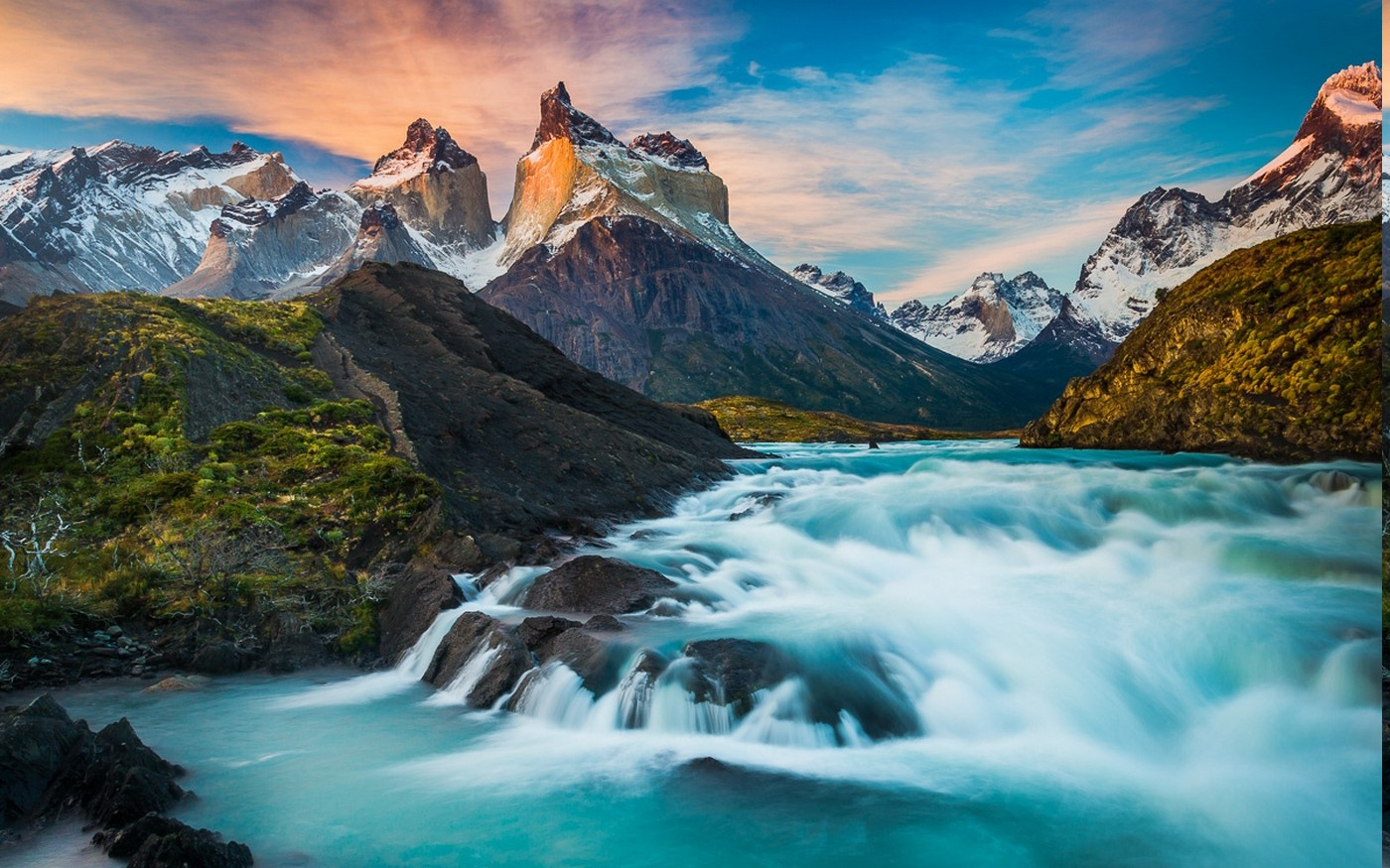 Free Full Screen Fall Wallpaper Nature Landscape Torres Del Paine Horns Fall Chile
