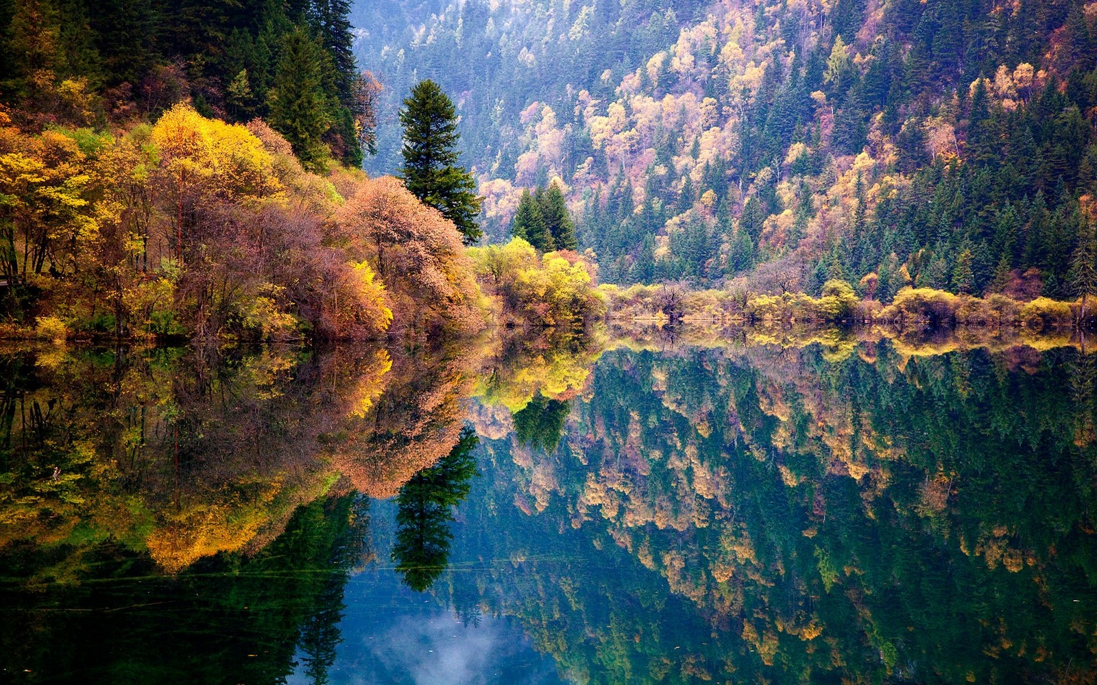 Fall Wallpapers For Desktop Idaho Nature Landscape Blue Reflection Fall Forest Lake