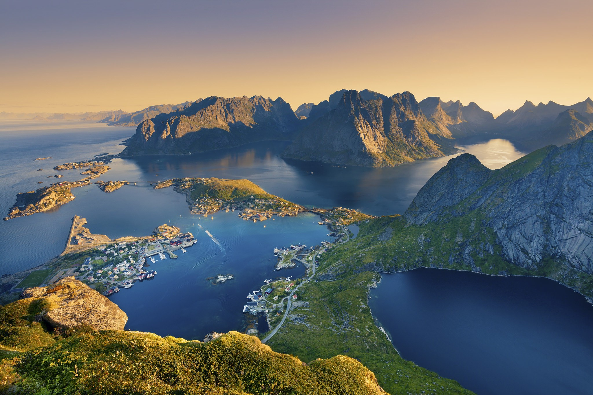 Full Hd 3d Wallpapers 1920x1080 Free Download For Mobile Landscape Norway Lofoten Nature Bay Europe Mountain