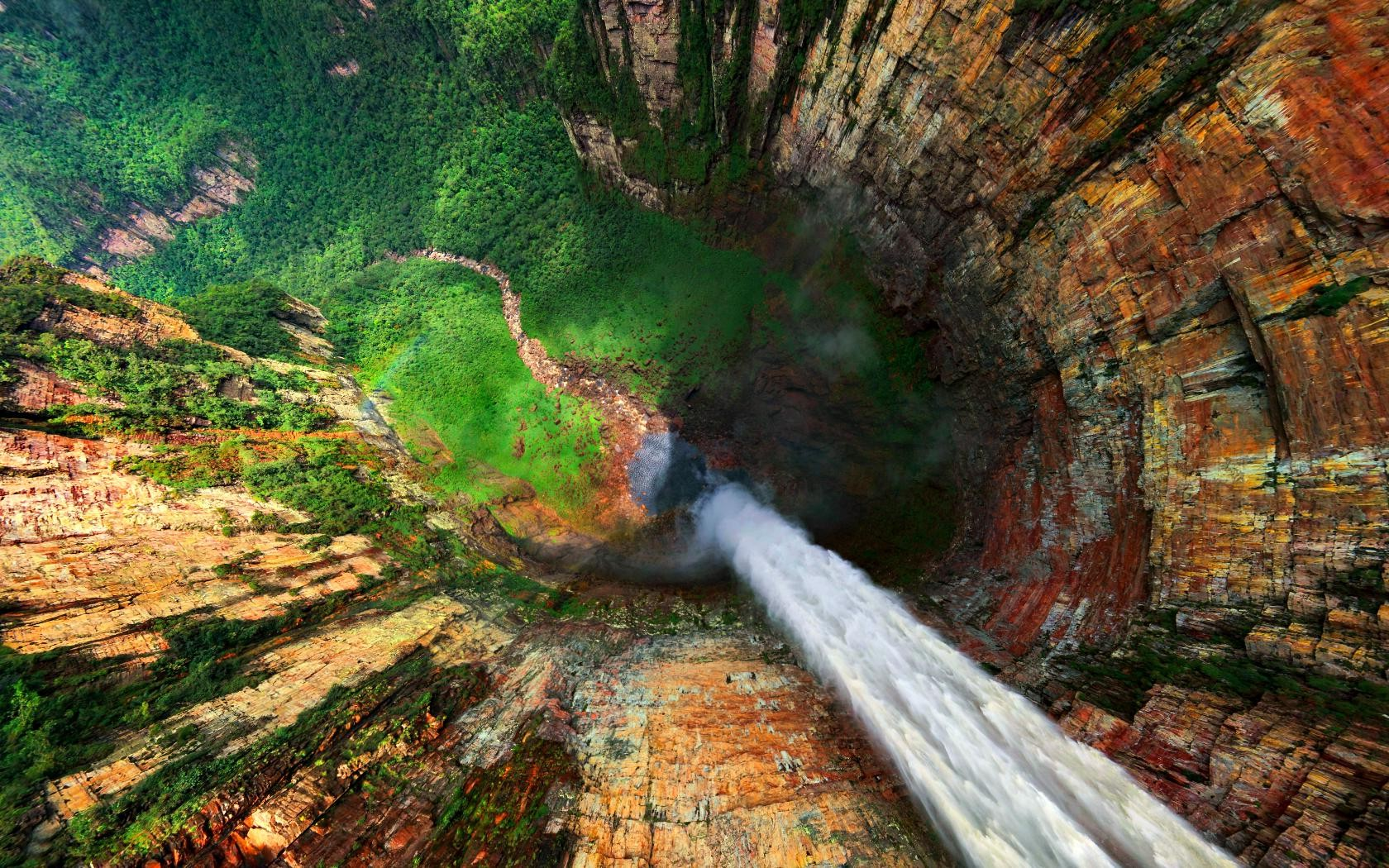Angel Falls Wallpapers Desktop Forest Cliff Water Nature Mountain Waterfall