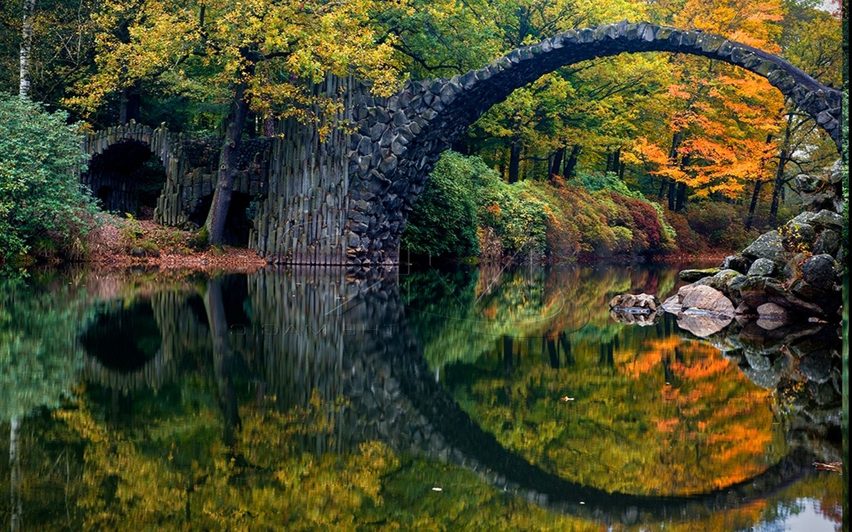 Fall Leaves Hd Wallpapers 1080p Nature Landscape Fall Colorful Bridge Forest