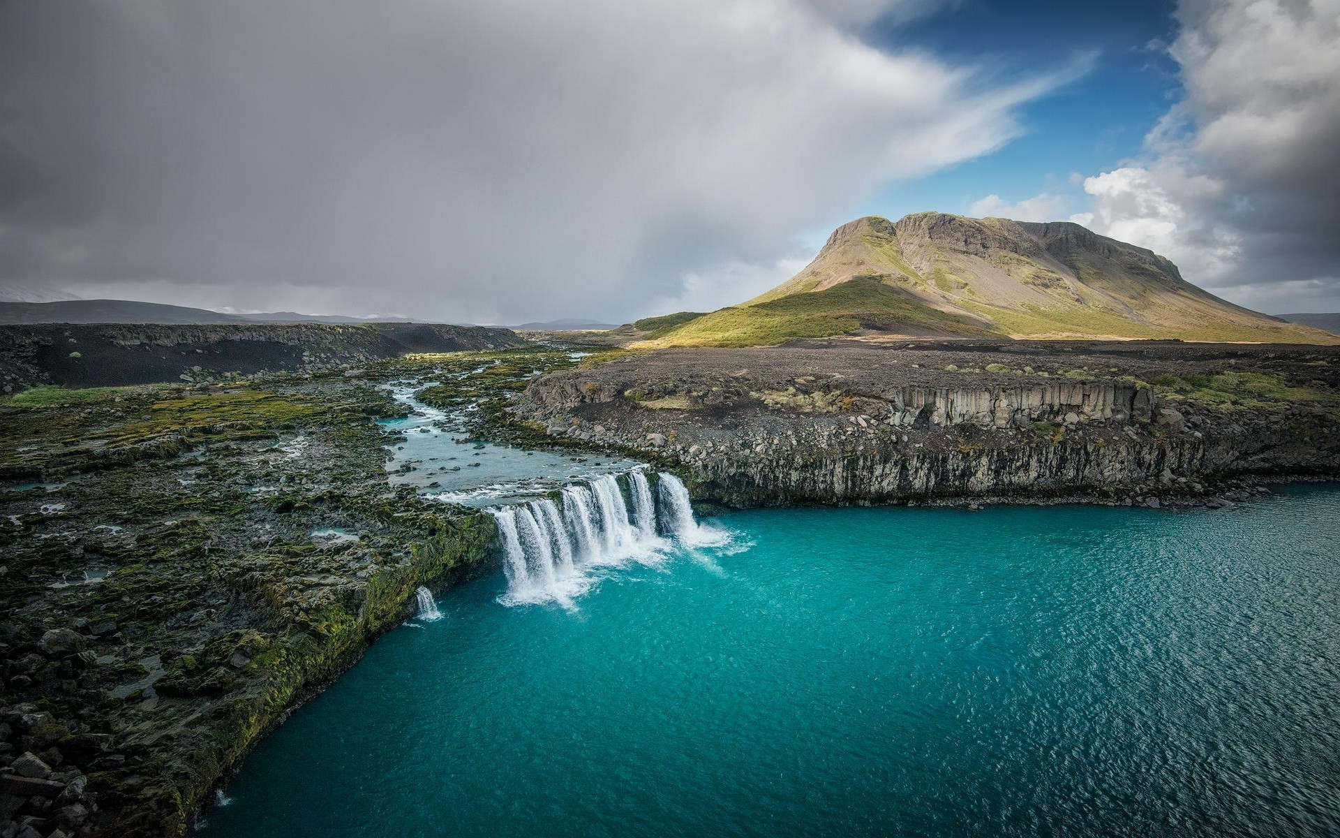 Beautiful Water Fall Scenery Wallpapers Landscape Nature Waterfall Iceland River Mountain