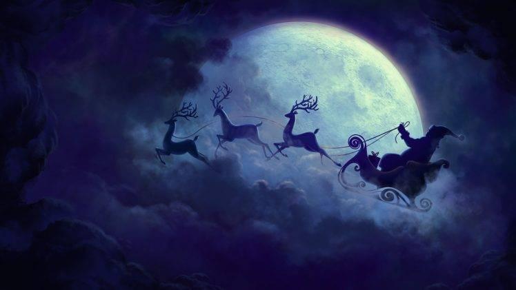 3d Christmas Wallpaper Backgrounds 2015 Christmas Santa Claus Reindeer Wallpapers Hd Desktop