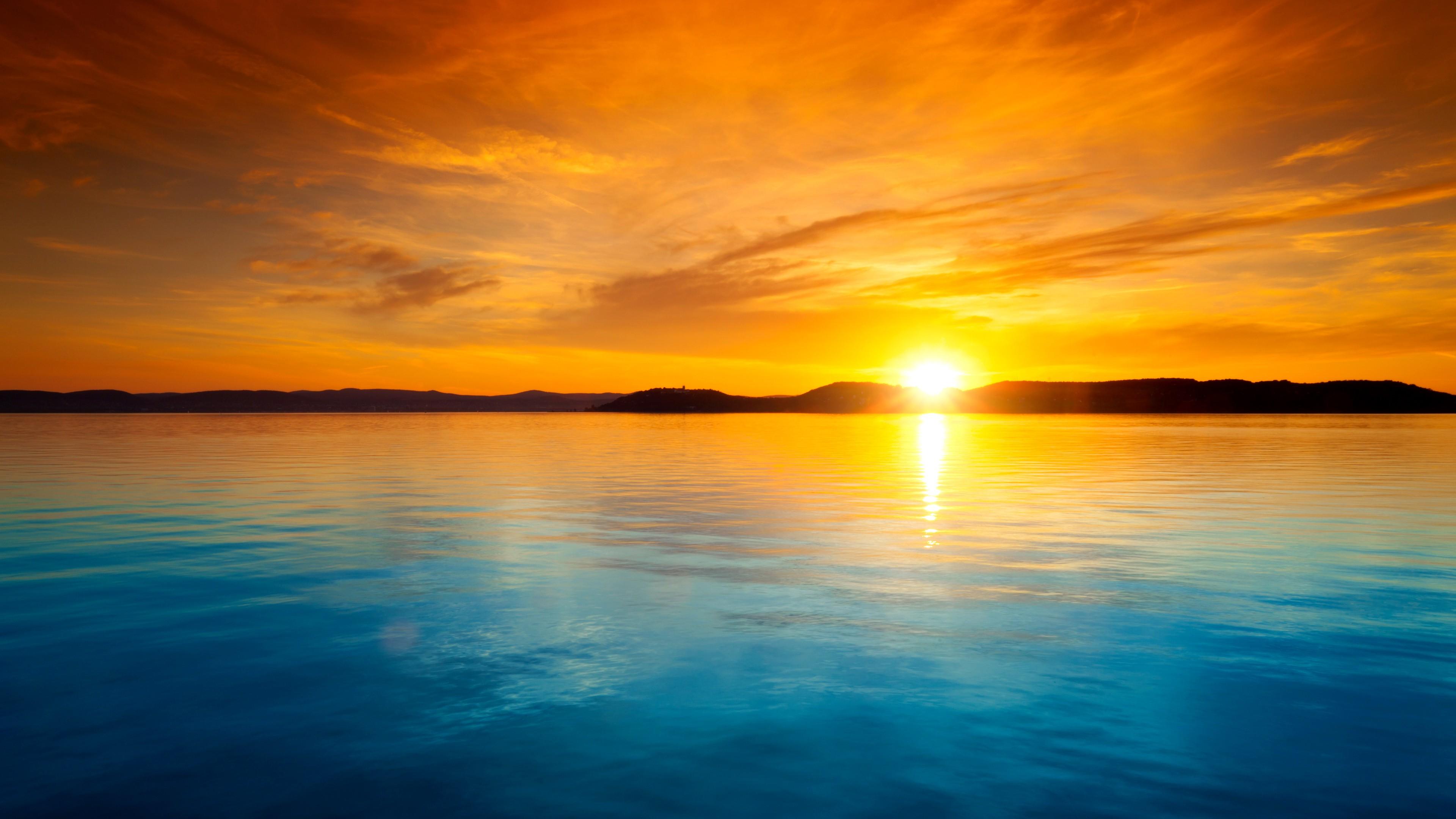 High Res Anime Wallpaper Sunset Landscape Horizon Wallpapers Hd Desktop And