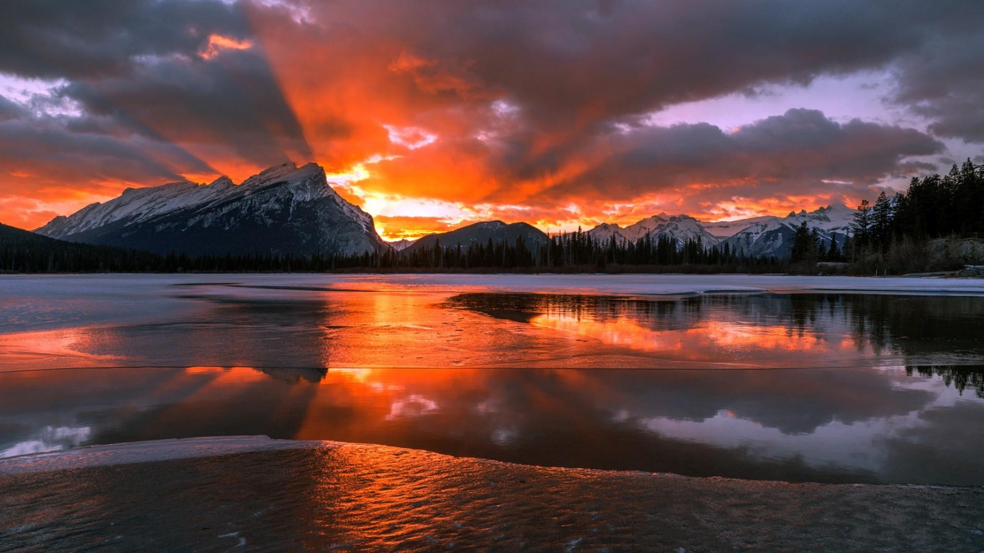 Niagara Falls Hd 1080p Wallpapers Nature Landscape Mountain Canada Alberta Snow Winter