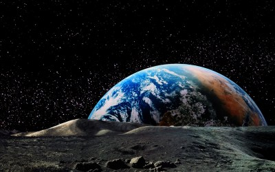 nature, Landscape, Planet, Earth, Space, Moon, Horizon, Stars, Astronomy, Universe Wallpapers HD ...