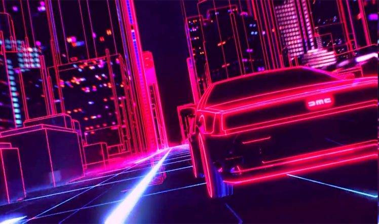 1920 Car Synthwave Wallpaper New Retro Wave Synthwave 1980s Neon Delorean Car