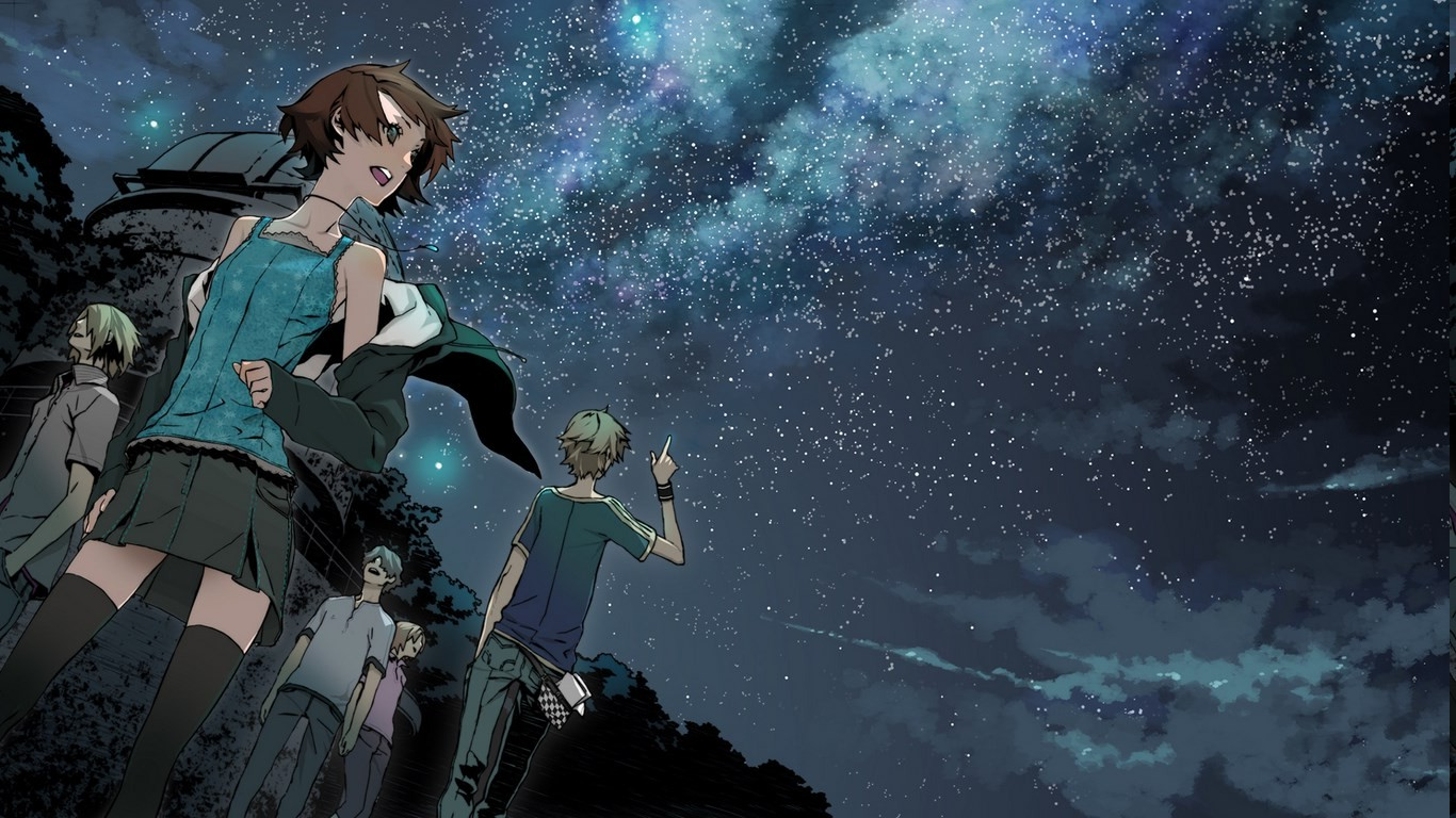 The Cars Band Cover Wallpaper Anime Stars Group Of People Night Clear Sky Supercell