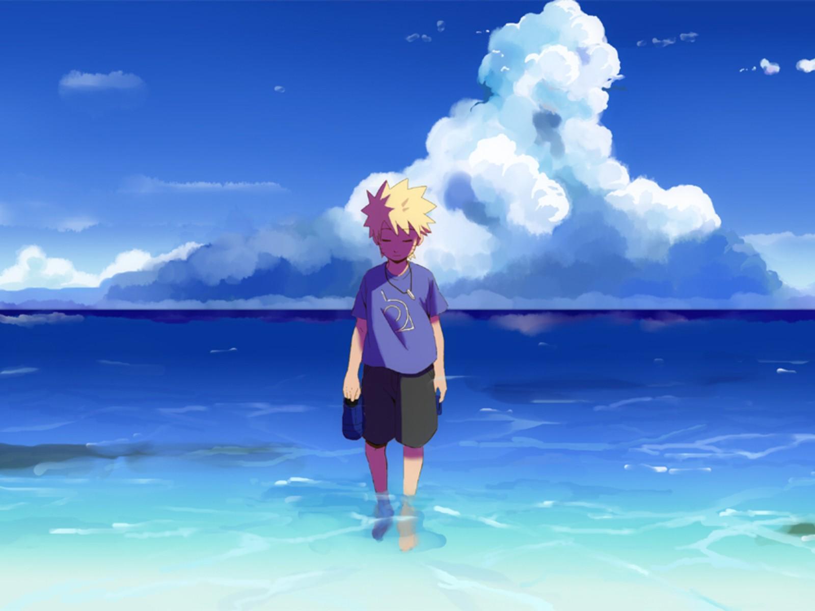 Sad Boy And Girl Full Hd Wallpaper Uzumaki Naruto Sea Anime Boys Wallpapers Hd Desktop