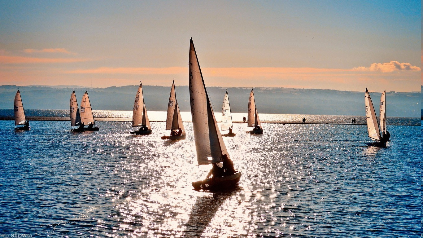 Best 3d Animal Wallpapers Sunset Sunlight Landscape Nature Sea Sailing Ships