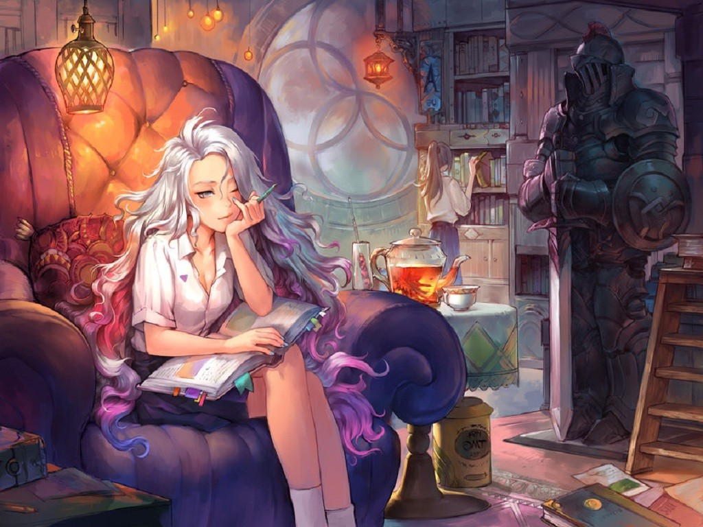 Autumn Fall Wallpaper 1600x900 Painting Anime Original Characters Wallpapers Hd