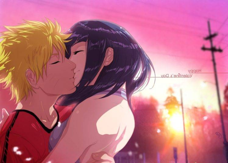 Cute Couple Kisses Wallpaper Naruto Shippuuden Uzumaki Naruto Hyuuga Hinata Anime
