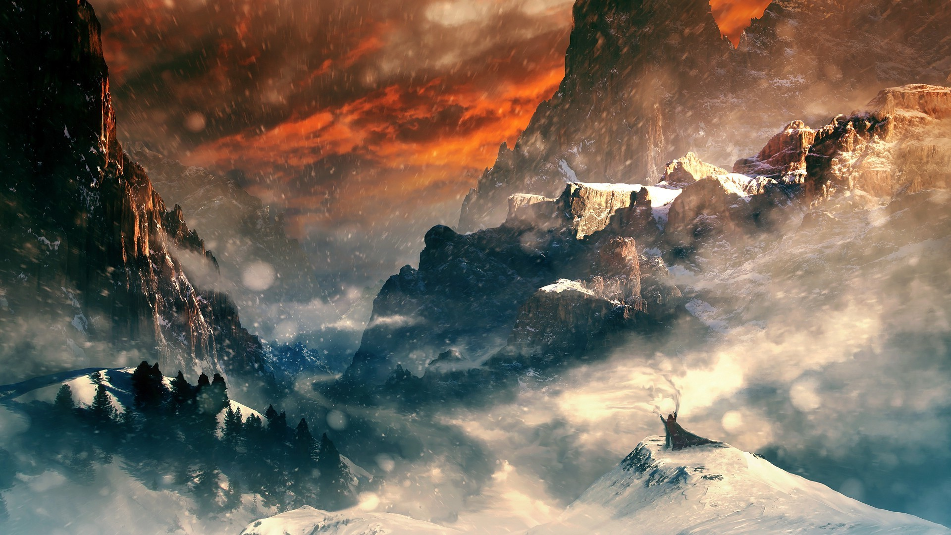 New 3d Desktop Wallpaper Hd 16 Fantasy Art Mountain Landscape Wallpapers Hd Desktop