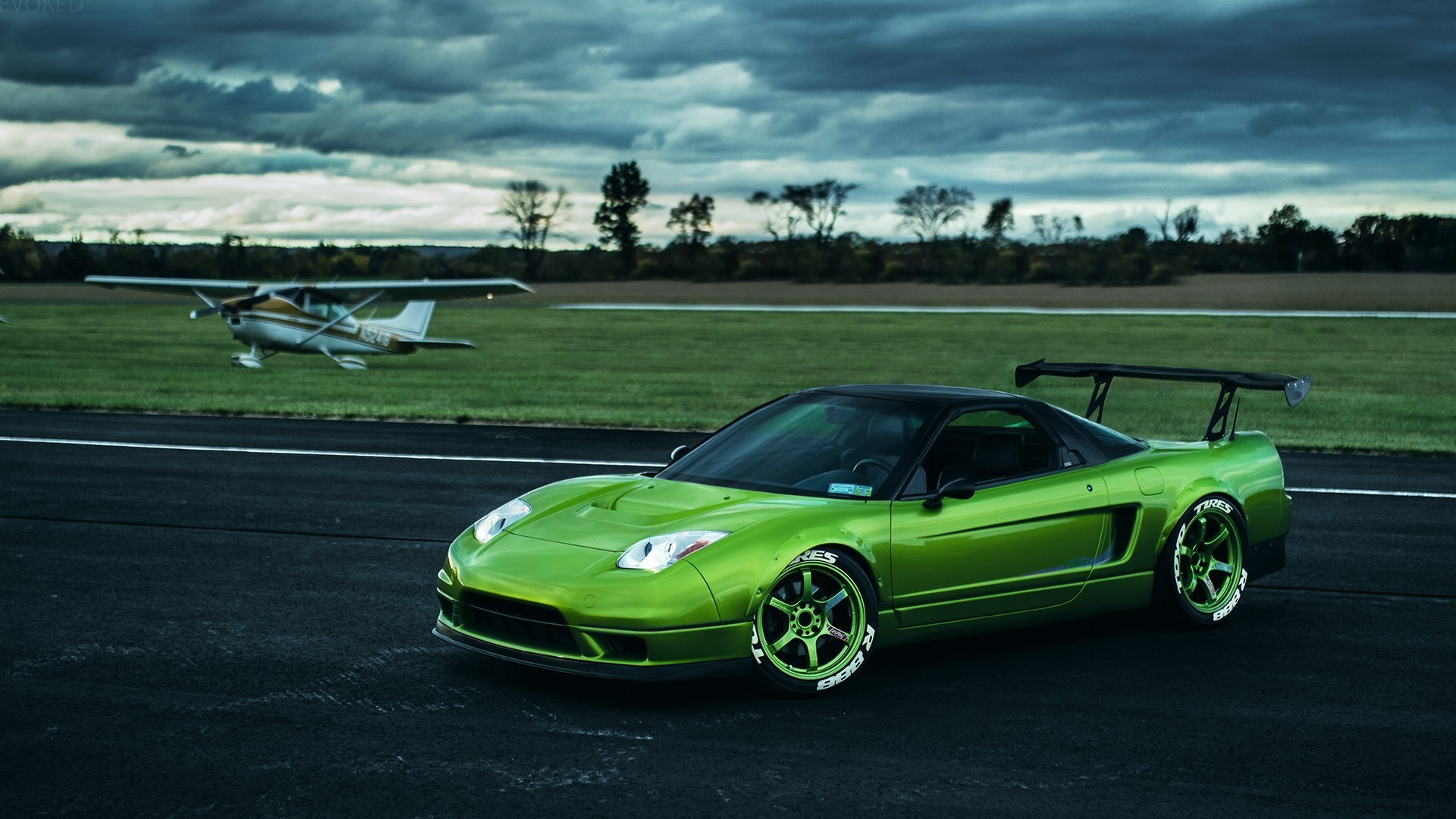 Retro Car Home Wallpaper Honda Honda Nsx Airport Car Rims Wallpapers Hd