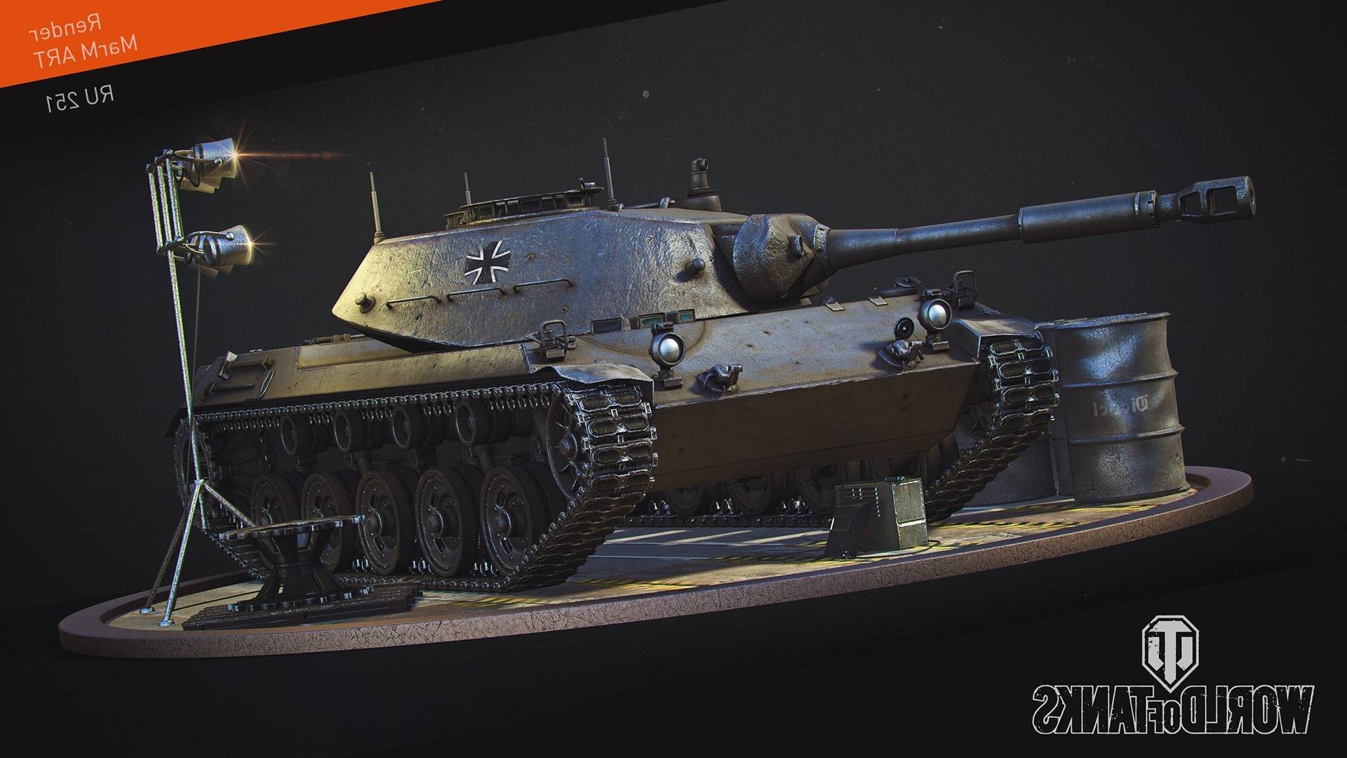 Sp 3d Wallpaper World Of Tanks Wargaming Video Games Spahpanzer Ru 251