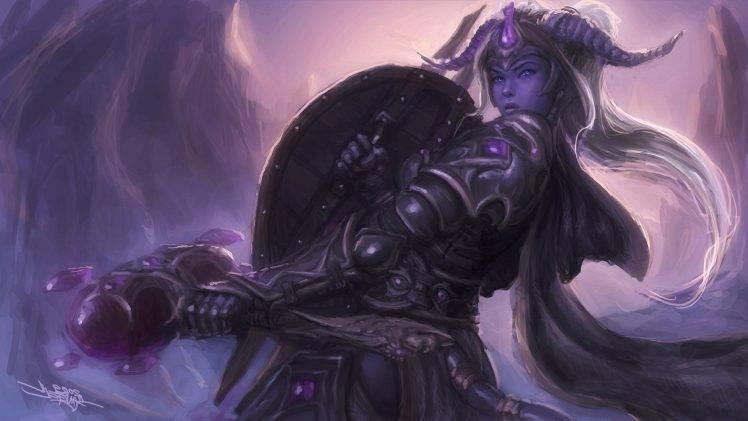 3d Hd Wallpapers Priestess Paladin Horns World Of Warcraft Draenei Wallpapers Hd