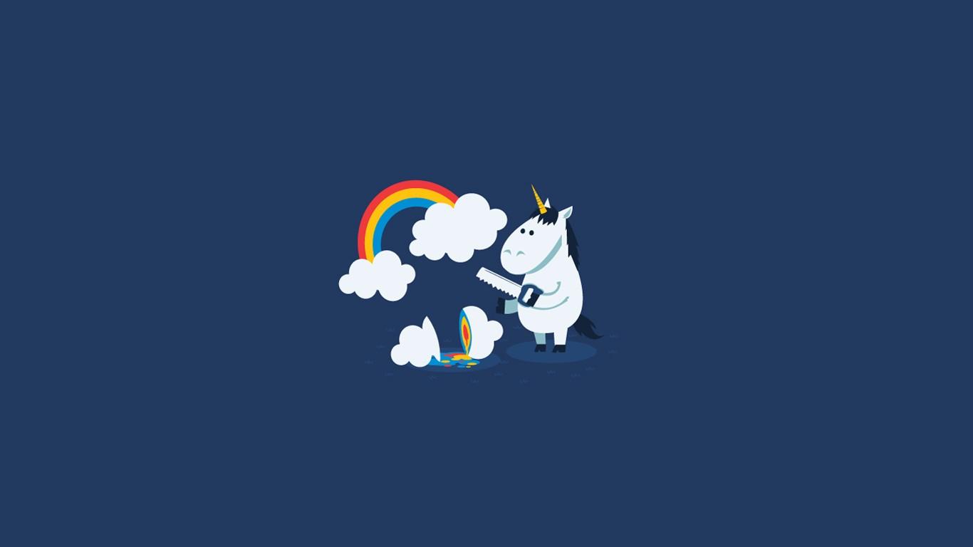 Iphone 5s Lock Screen Wallpaper For Girls Humor Rainbows Unicorns Clouds Minimalism Simple