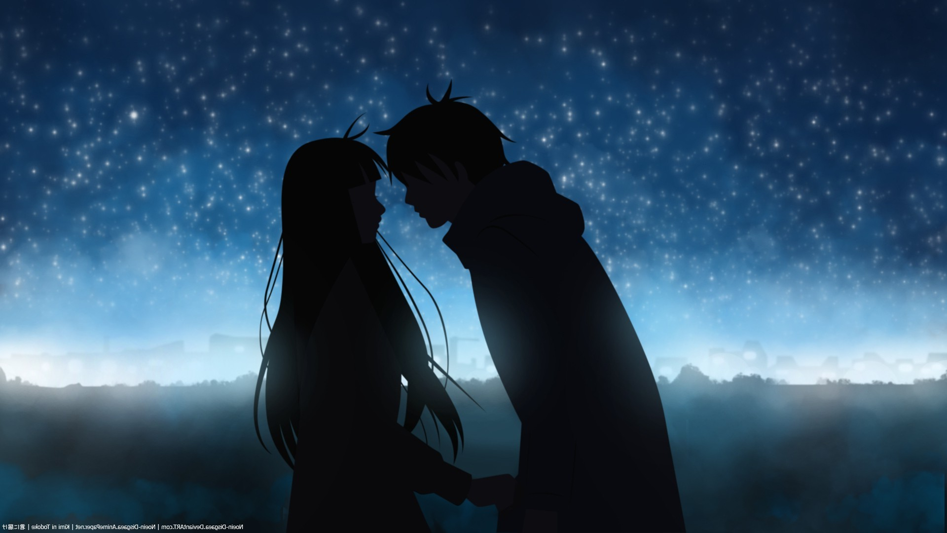 Boy Girl Kiss Hd Wallpaper Kimi Ni Todoke Kazehaya Shouta Kuronuma Sawako Anime