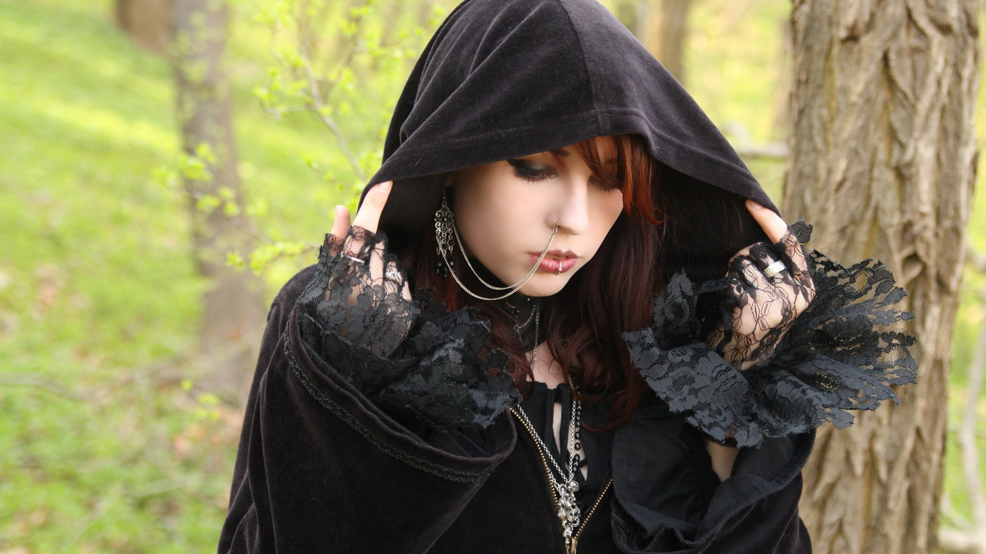 Gothic Anime Girl Wallpaper Women Gothic Piercing Wallpapers Hd Desktop And Mobile