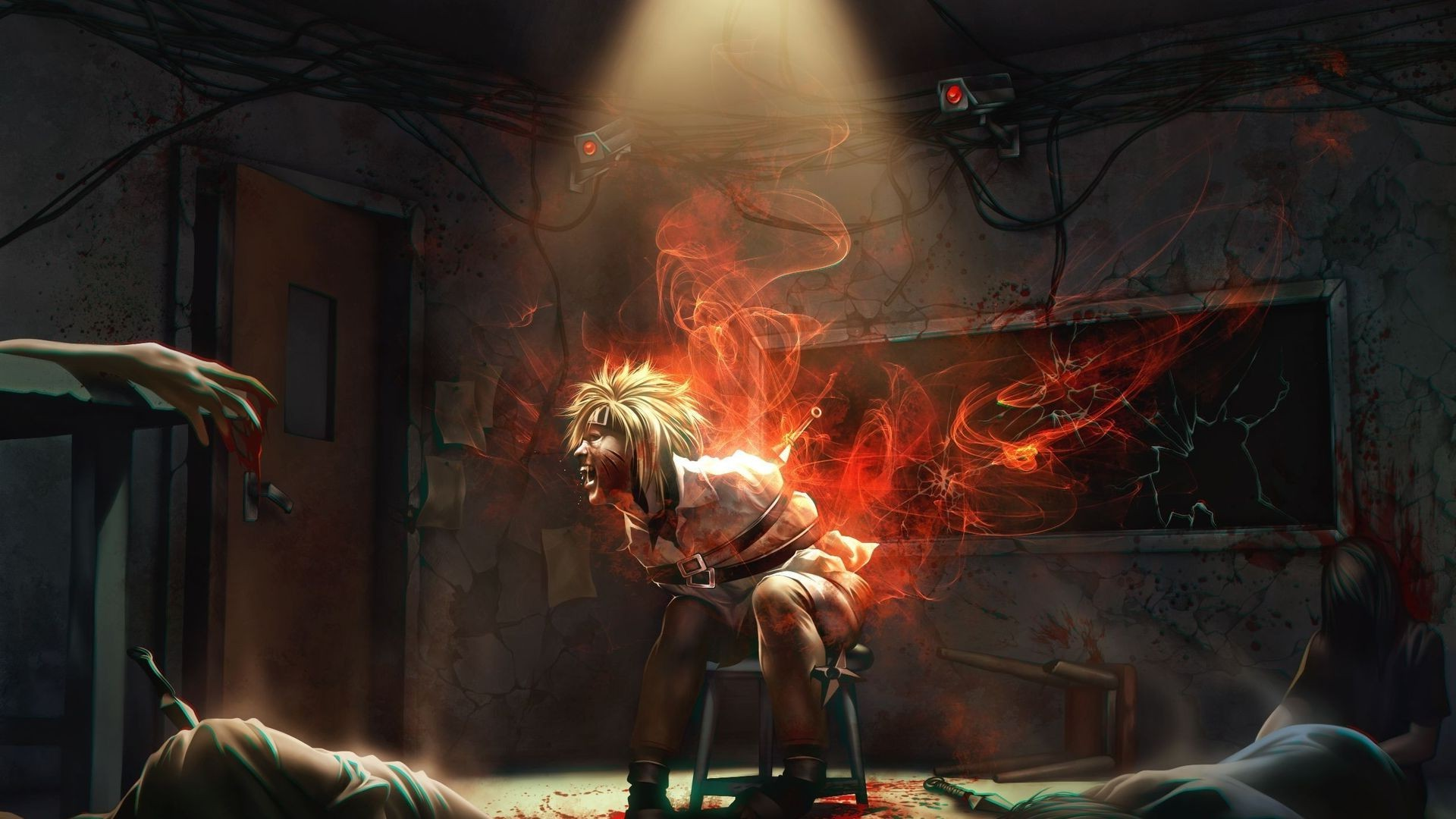 Wallpaper Girls Tatto Hd Ninjas Kyuubi Uzumaki Naruto Bound Spotlights