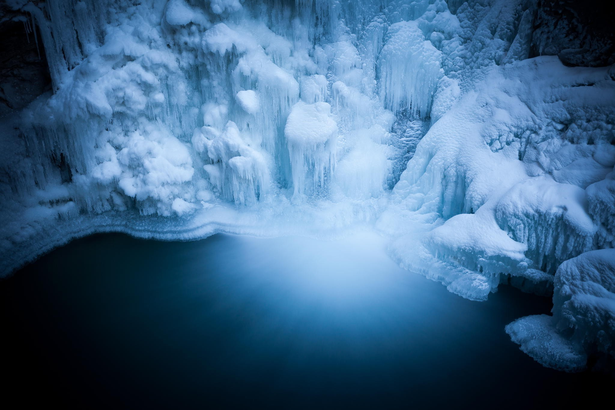 Nature Wallpaper Full Hd National Geographic Nature Winter Snow Ice Water Waterfall Long Exposure