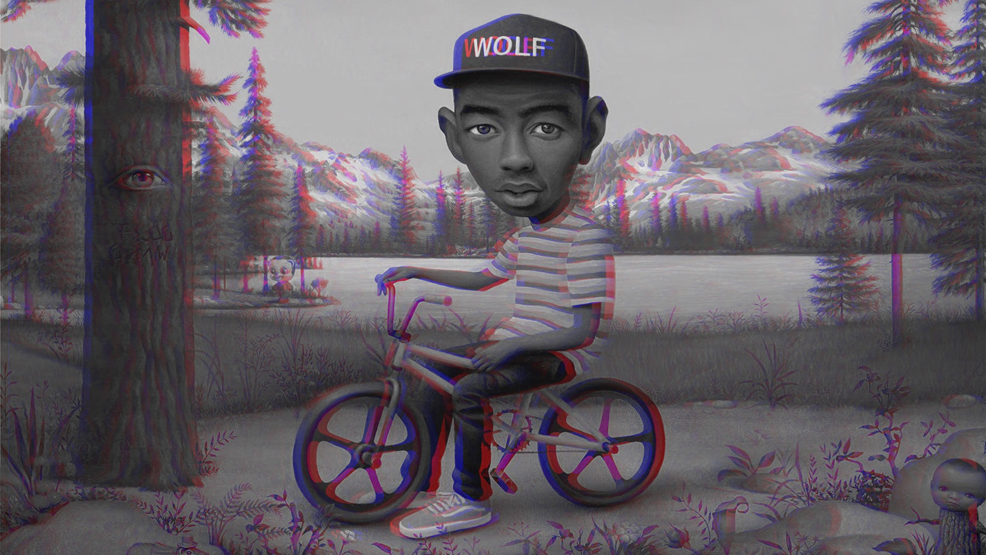 3d Golf Wallpaper For The Home Anaglyph 3d Hip Hop Tyler The Creator Wallpapers Hd