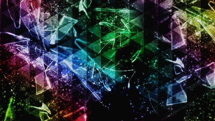 Blown Cars Wallpaper Abstract Colorful Triangle Shattered Broken Glass