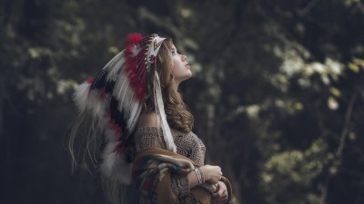 Native Americans, Brunette, Nature, Headdress, Profile, Looking Up, Cardigan Wallpapers HD ...