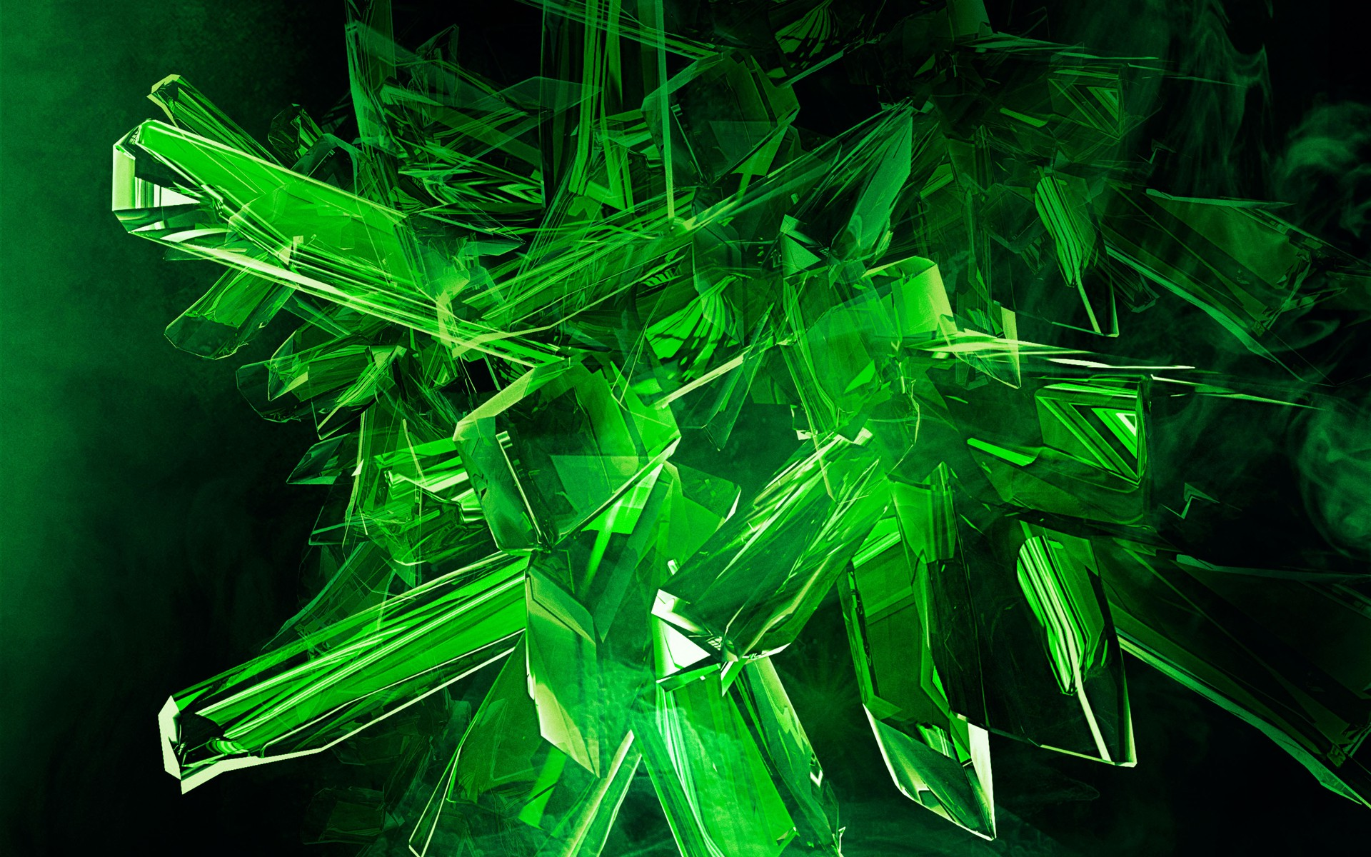 Gold 3d Hd Wallpapers Digital Art Abstract Green Crystal Wallpapers Hd