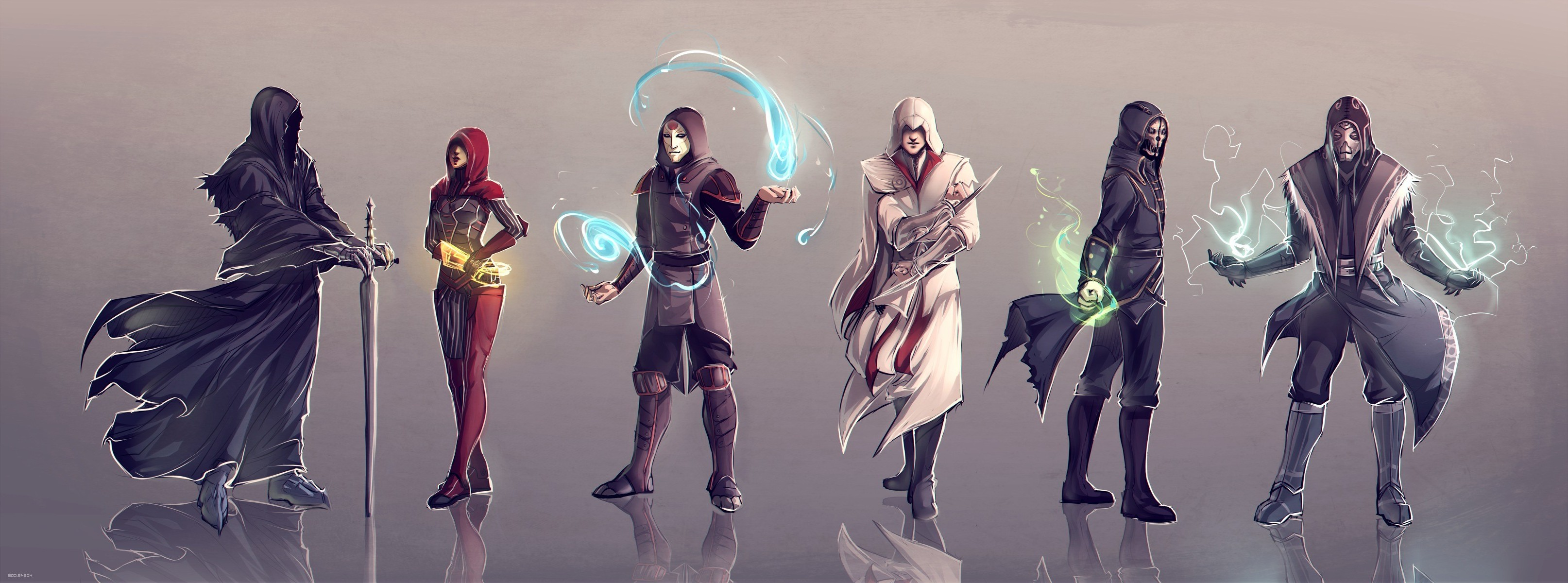 Hd Wallpapers Assassins Creed Dishonored Assassins Creed Mass Effect The Elder