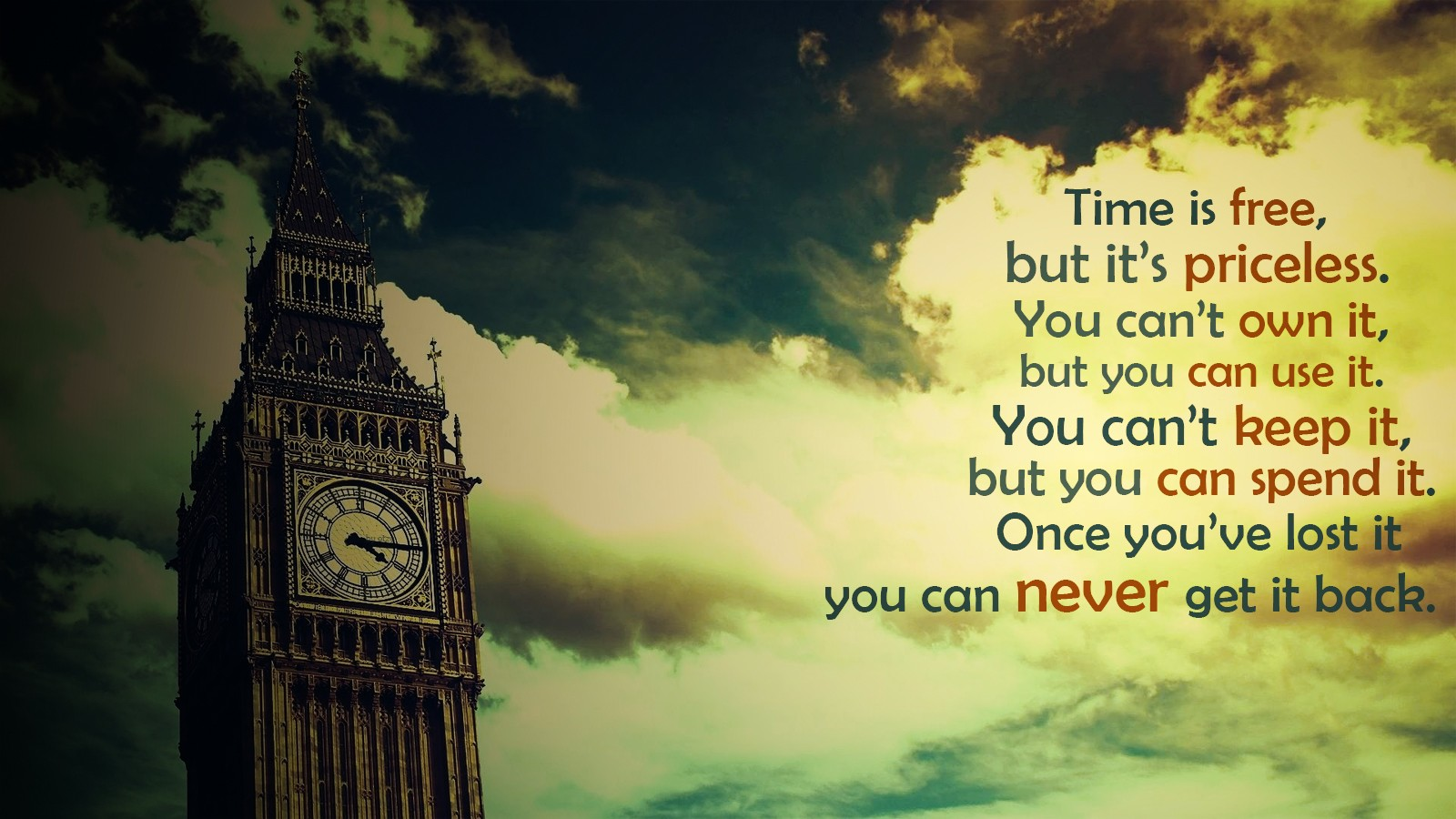 Cosmos Quotes Wallpaper Quote Big Ben London Time Filter Clouds