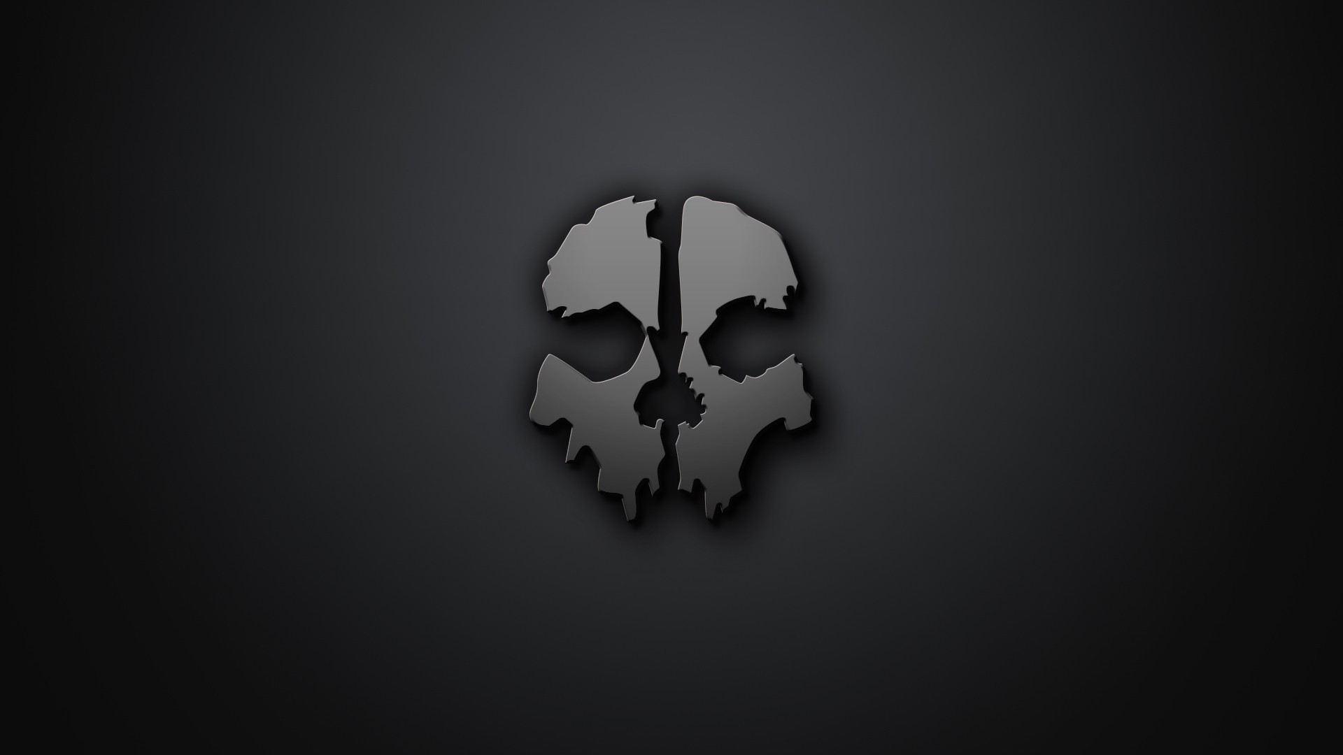Halo Reach 3d Wallpaper Pc Skull Artwork Minimalism Gray Background Call Of Duty