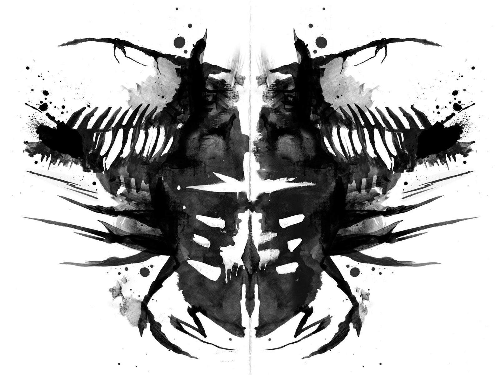 Dead Space Video Games Rorschach Test Wallpapers Hd
