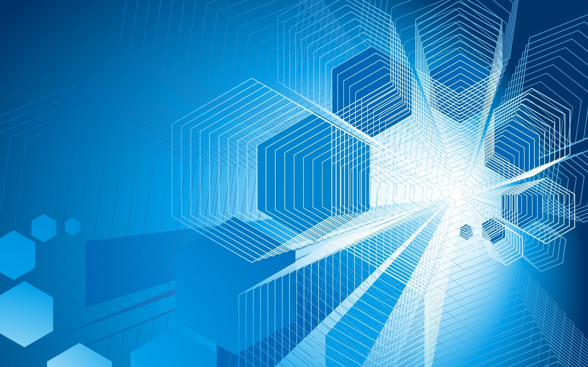 Uhd 3d Wallpaper Download Geometry Simple Background Blue Background Abstract
