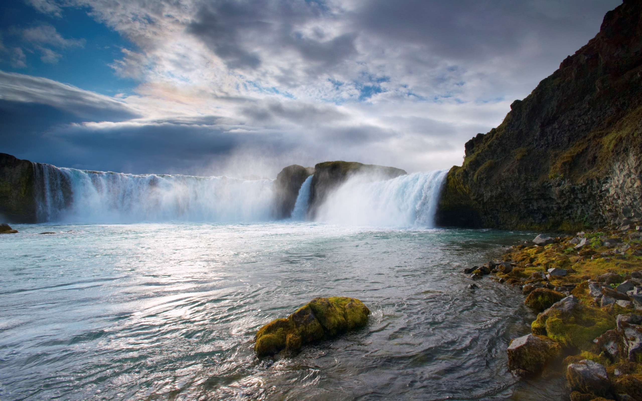 3d Waterfall Wallpaper For Mobile Nature Landscape Iceland Waterfall Wallpapers Hd