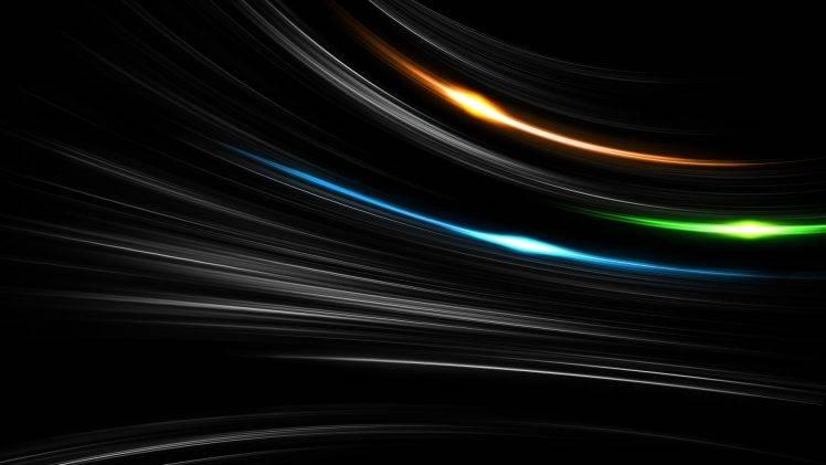 minimalism, Black Background, Digital Art, Abstract, Lines, Glowing