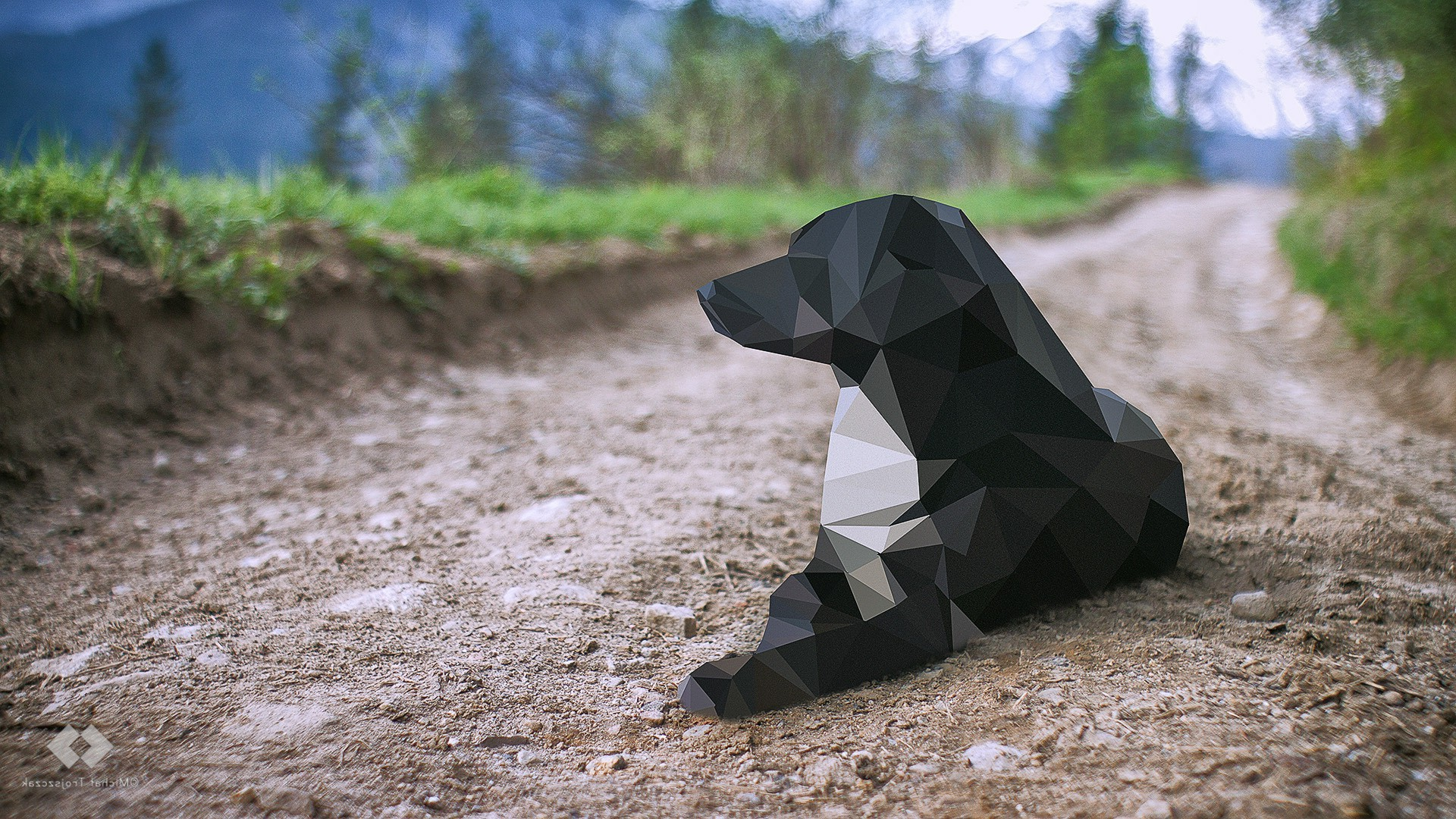 3840x1080 Wallpaper Cars Reddut Dog Low Poly Animals Wallpapers Hd Desktop And Mobile