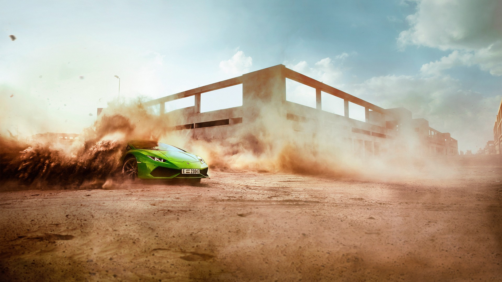 Car 5760x1080 Wallpaper Car Dust Lamborghini Racing Wallpapers Hd Desktop And