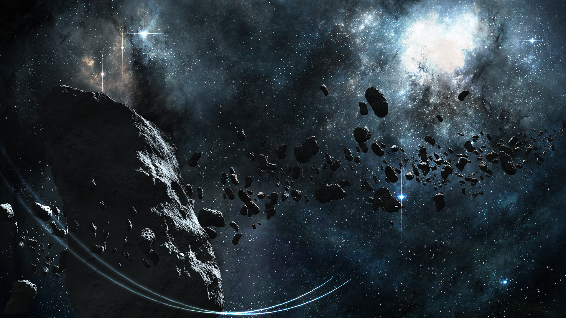 3d Asteroid Wallpaper Space Asteroid Digital Art Space Art Wallpapers Hd