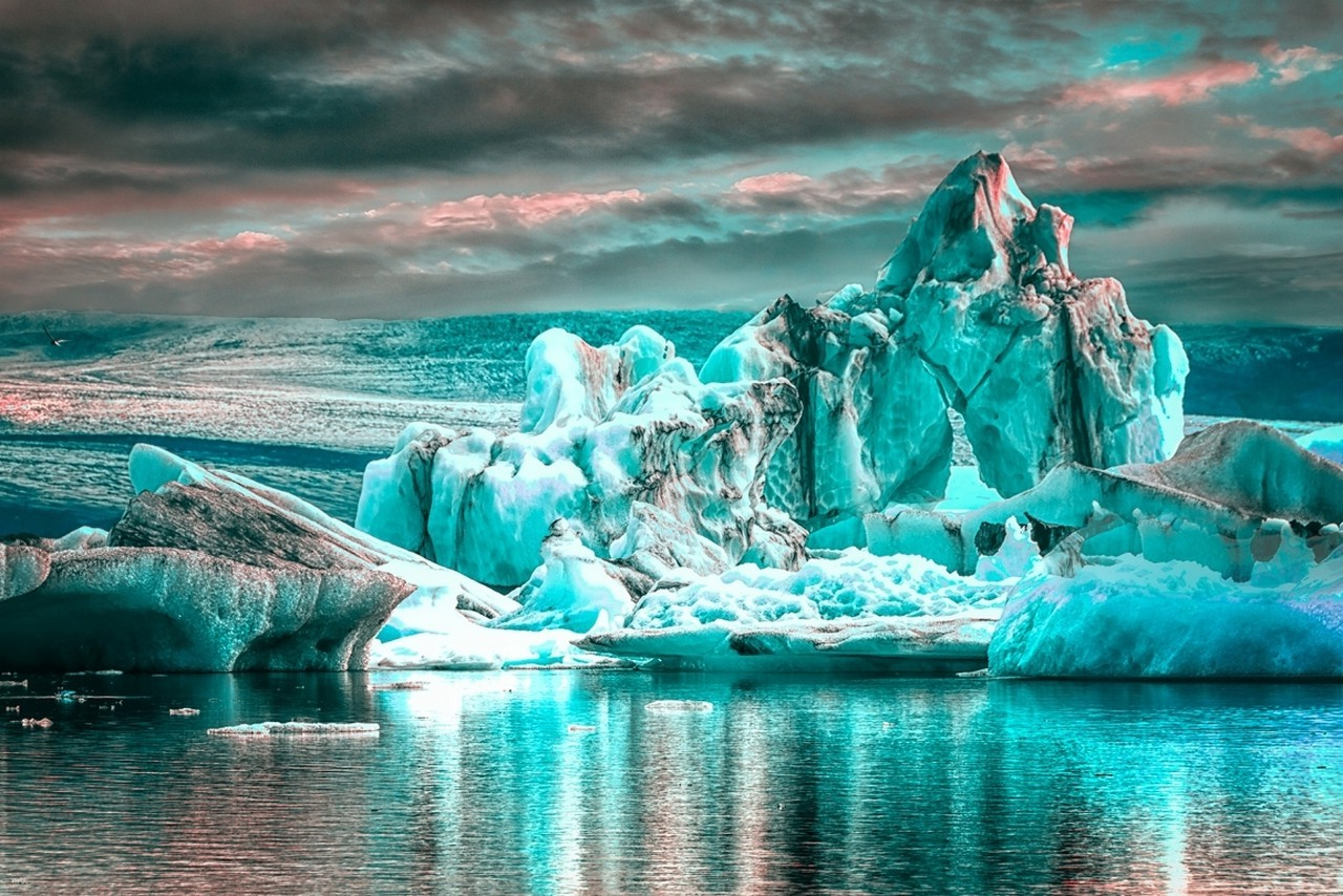 3d Wallpaper Widescreen High Resolution Game Ice Glaciers Water Clouds Reflection Iceberg