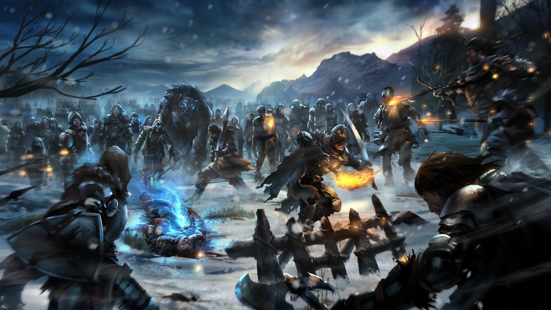 Epic Girl With Gun Wallpaper Game Of Thrones White Walkers Video Games Fantasy Art