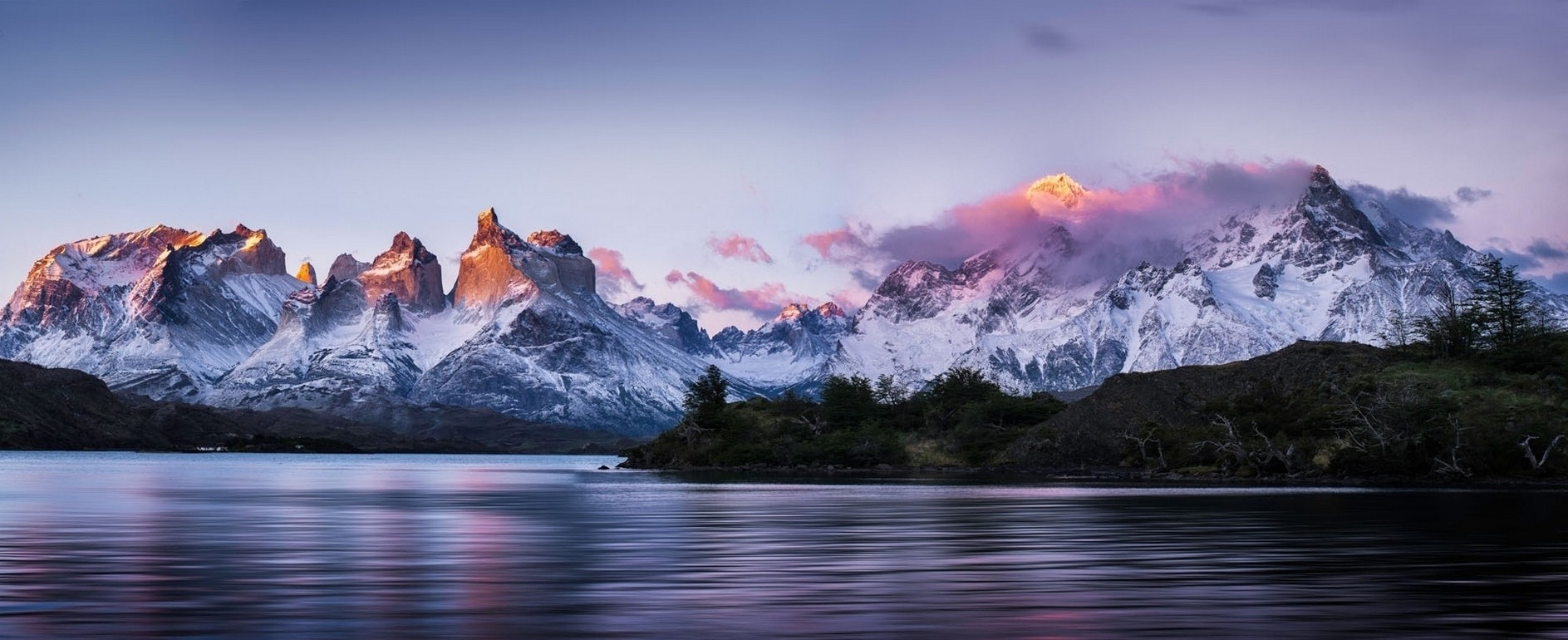 3d Wallpaper For Home Screen Panoramas Torres Del Paine Patagonia Chile Mountain