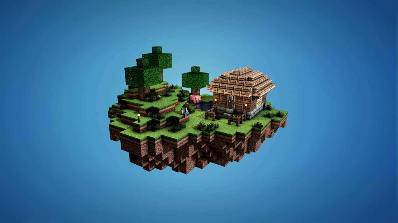 Creature 3d Movie Wallpaper Download Minecraft Video Games House Floating Island Simple