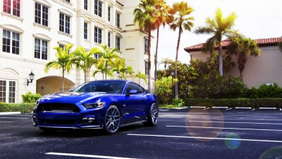car, Ford Mustang, Blue Cars, Palm Trees Wallpapers HD / Desktop and Mobile Backgrounds