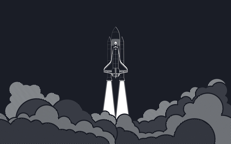 4k Wallpaper Cute League Artwork Space Vectors Launch Pads Spaceship Rockets