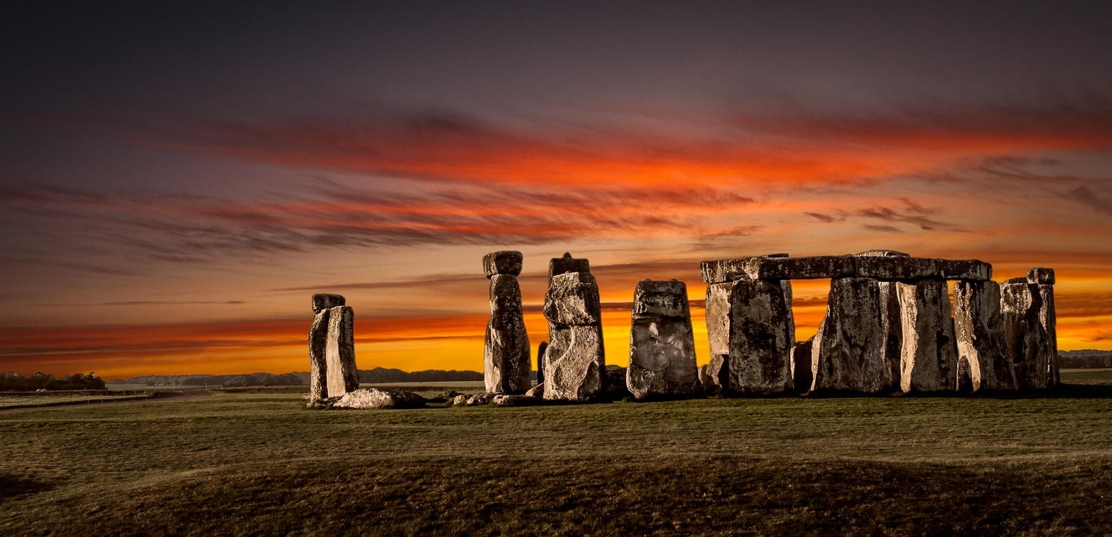 Hd Wallpapers Fire Cars Nature Landscape Fire Stones Sunset Stonehenge